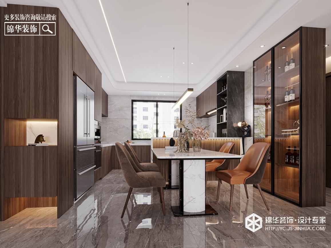 现代极简-香苑东园-三室两厅-147㎡装修实景效果图