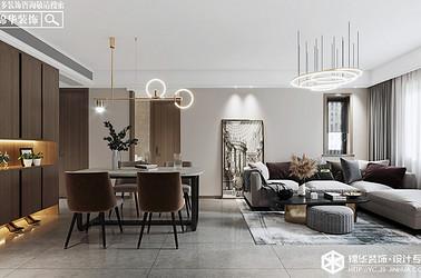 现代风格-新河嘉园-三室两厅-90㎡装修实景效果图