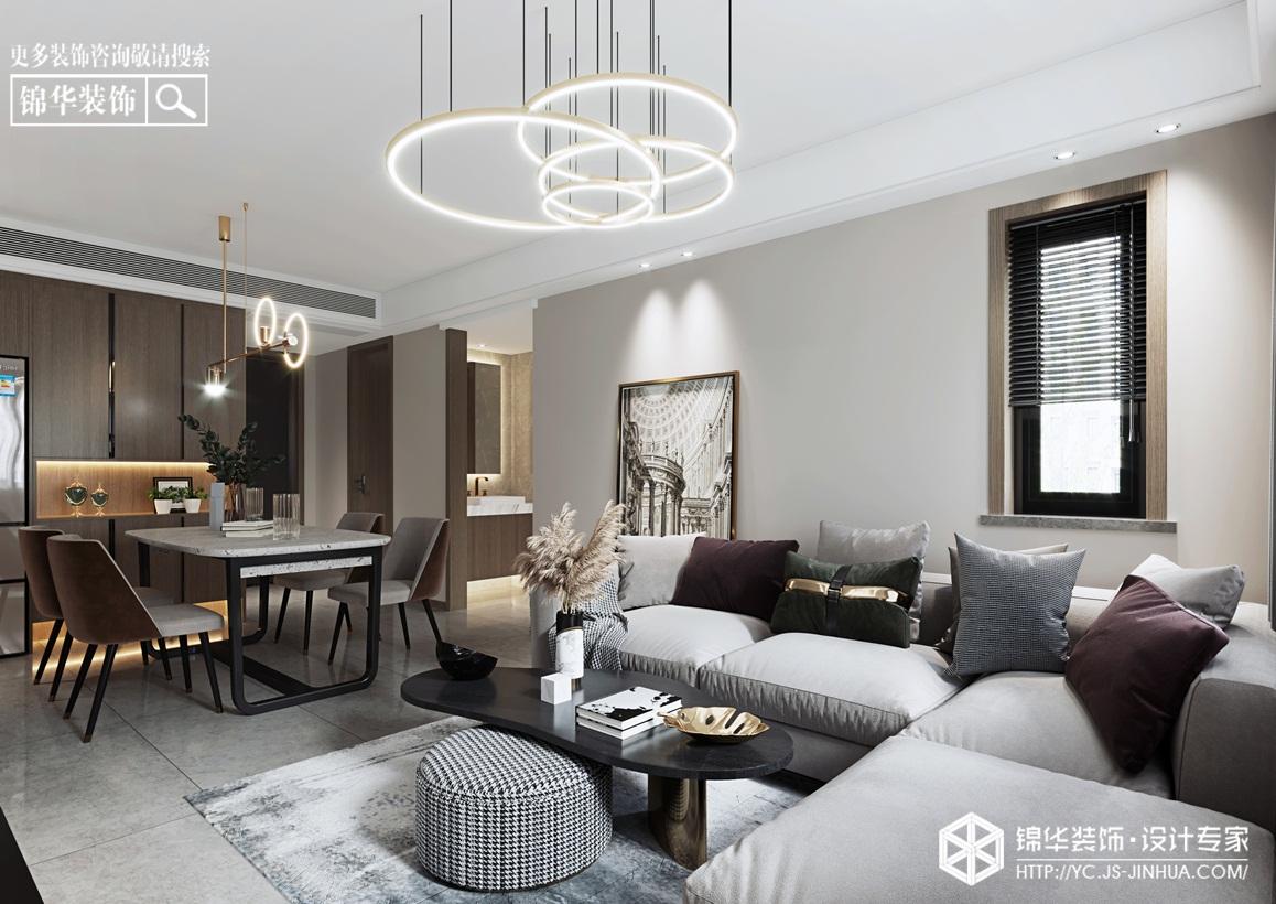 现代风格-新河嘉园-三室两厅-90㎡装修实景效果图装修-三室两厅-现代简约
