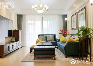 美式风格-日月星城-三室两厅-120㎡装修实景效果图