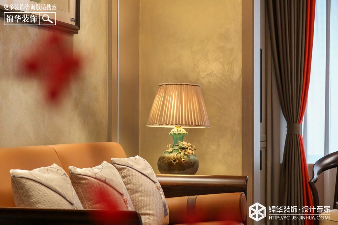 新中式-奥体一号 -三室两厅-126㎡装修实景效果图