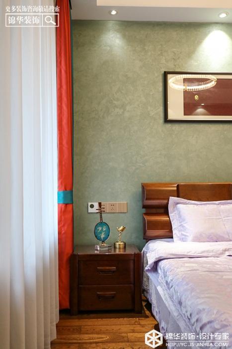 新中式-奥体一号 -三室两厅-126㎡装修实景效果图装修-四室两厅-新中式