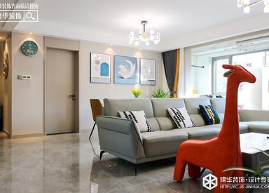 现代简约-悦隽时代-三室两厅-145㎡装修实景效果图