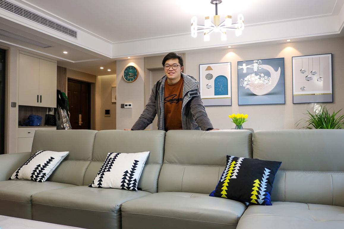 现代简约-悦隽时代-三室两厅-145㎡装修实景效果图装修-三室两厅-现代简约