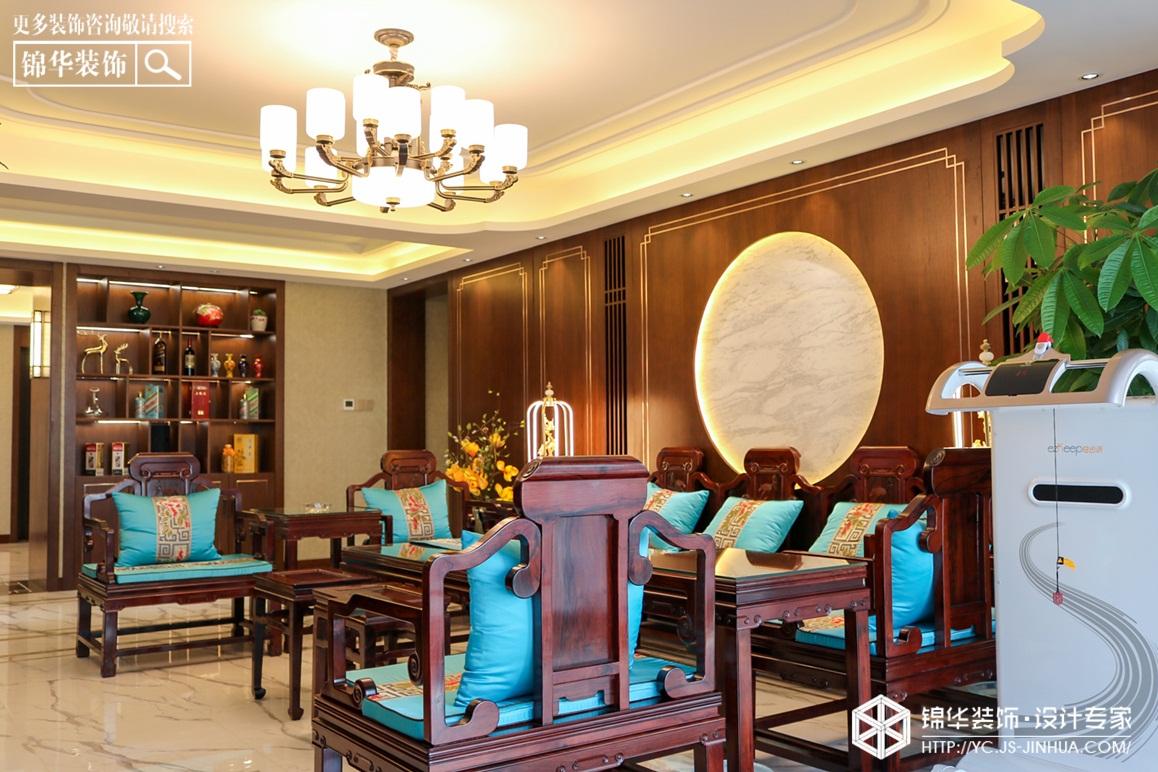 新中式-瑞尔花园 -三室两厅-190㎡装修实景效果图