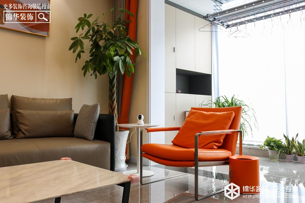 现代简约-荣润麒麟府-三室两厅-130㎡装修实景效果图装修-三室两厅-现代简约