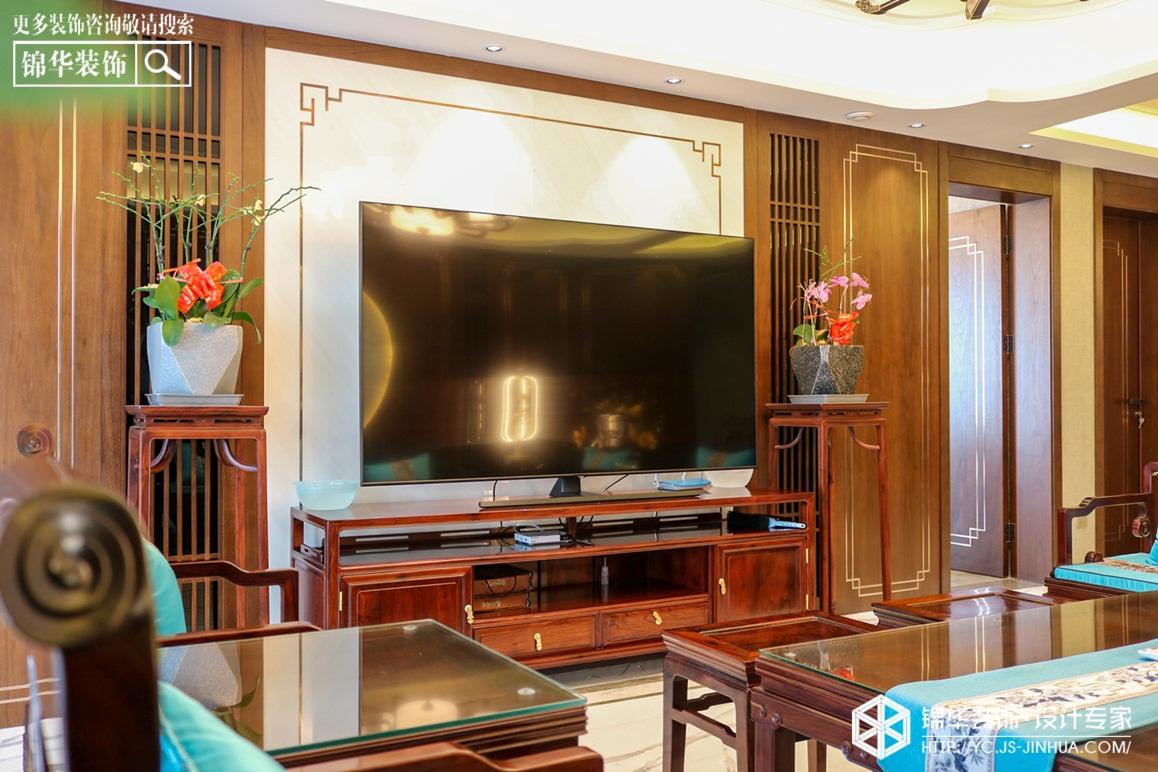 新中式-瑞尔花园 -三室两厅-190㎡装修实景效果图装修-大户型-新中式