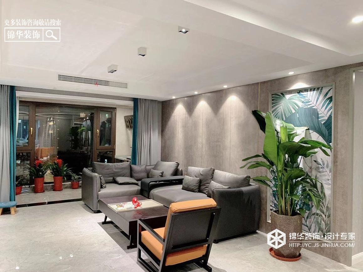 现代极简-中南世纪城-三室两厅-158㎡装修实景效果图