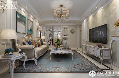 简约美式-中南世纪城-三室两厅-128㎡装修实景效果图