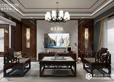 新中式-壹品仕家-三室两厅-132㎡装修实景效果图