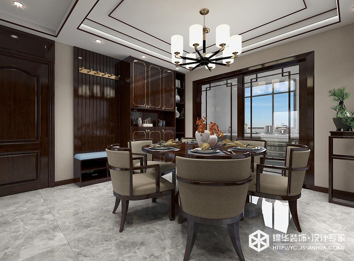 新中式-壹品仕家-三室两厅-132㎡装修实景效果图装修-三室两厅-新中式