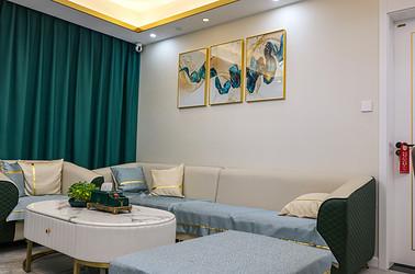 现代简约-悦隽时代-三室两厅-107㎡装修实景效果图
