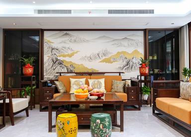 新中式-朗达壹号院-大户型-170㎡-装修实景效果图