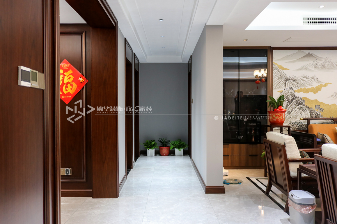 新中式-朗达壹号院-大户型-170㎡-装修实景效果图装修-大户型-新中式