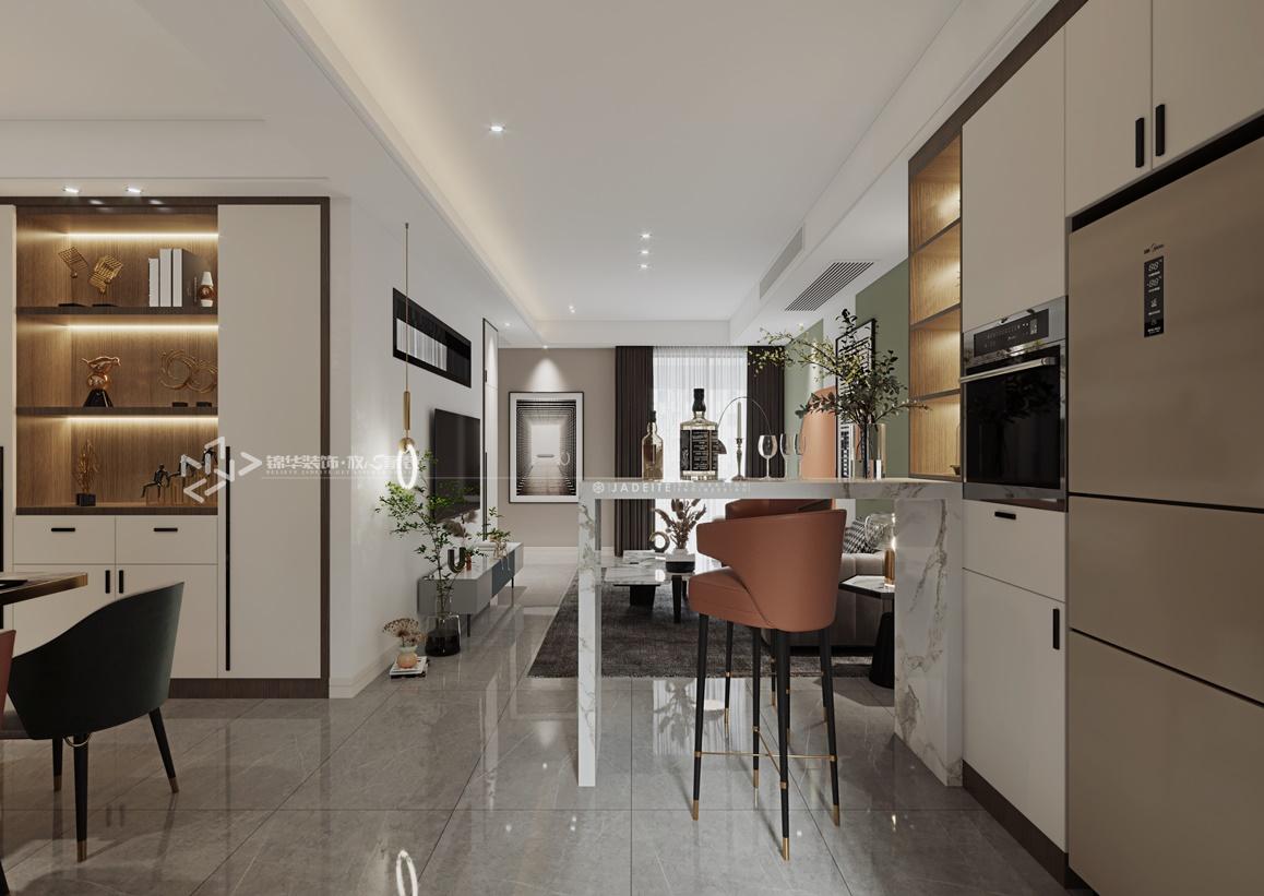 现代简约-金融城-两室一厅-90㎡装修实景效果图装修-两室一厅-现代简约