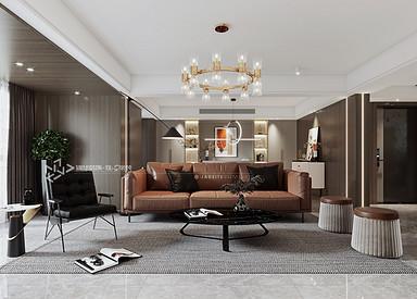 现代轻奢-阳光御园-四室两厅-200㎡装修实景效果图