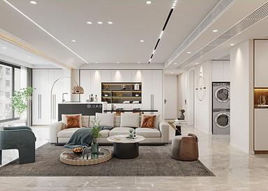 现代简约-中海万锦园-三室两厅-150㎡装修实景效果图