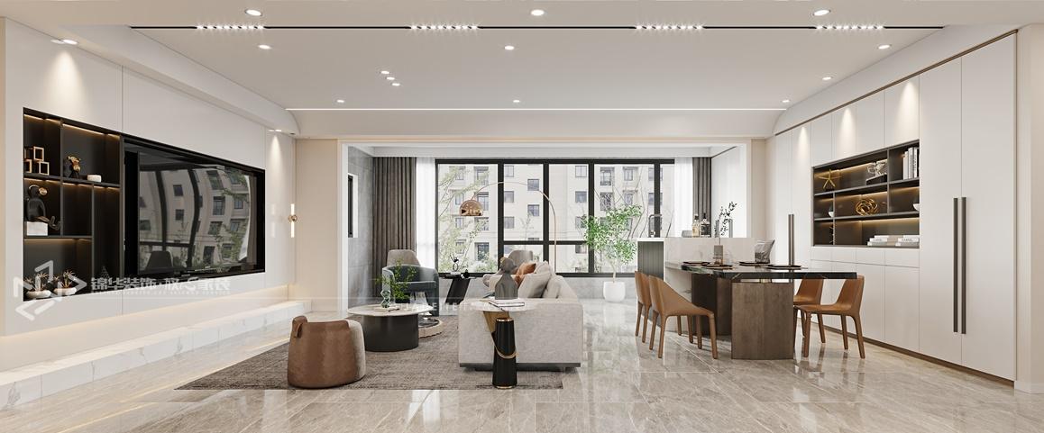 现代简约-中海万锦园-三室两厅-150㎡装修实景效果图装修-三室两厅-现代简约