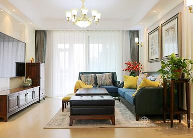 美式风格-日月星城-三室两厅-120㎡