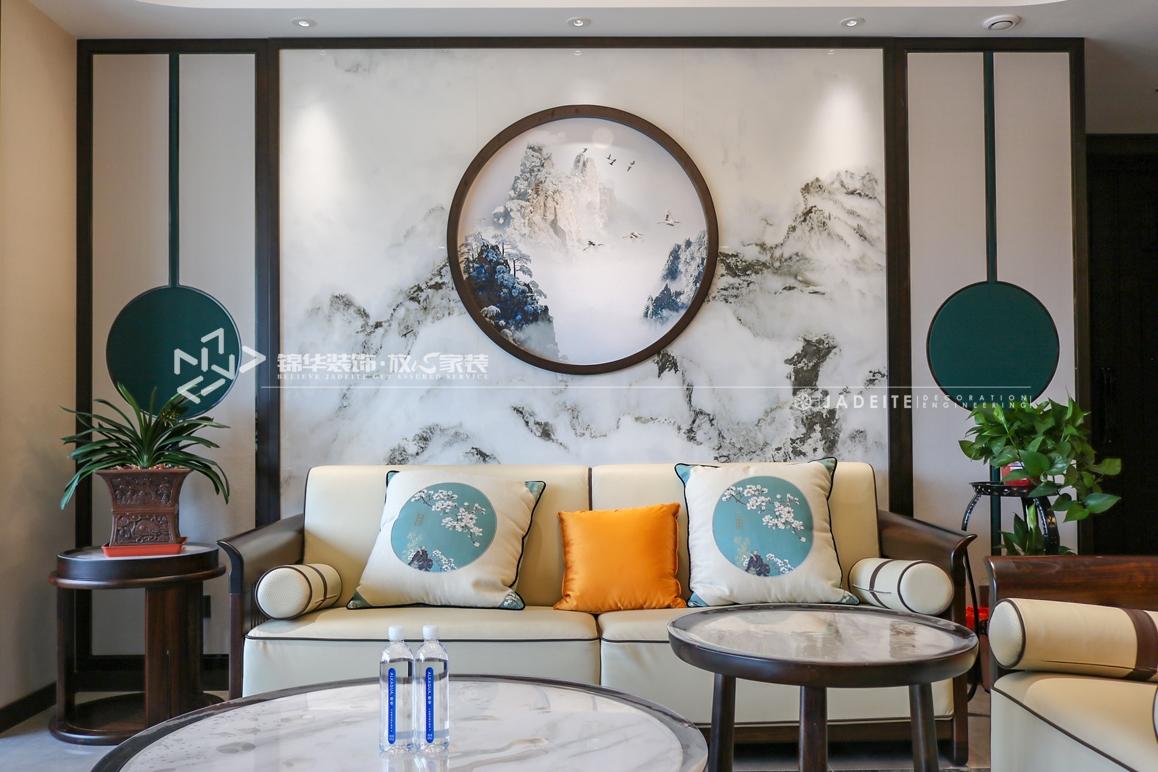 新中式-碧桂园天境-三室两厅-190㎡装修实景效果图