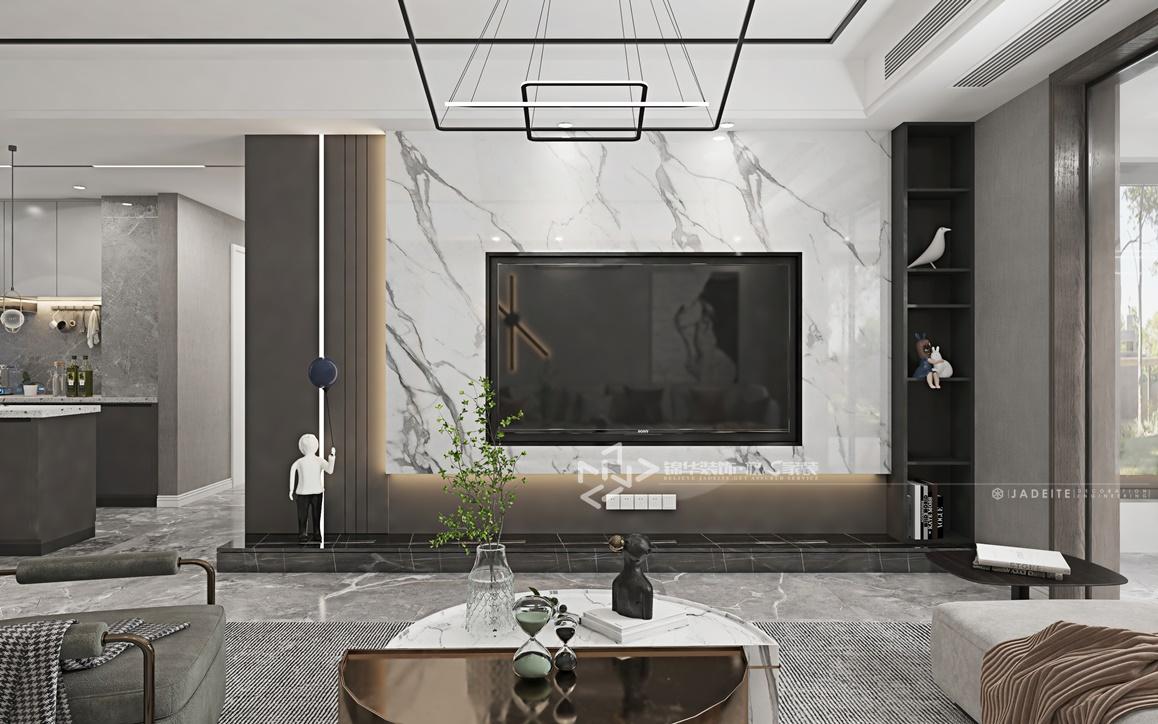 现代黑白灰风格-万达大公馆-三室两厅-147㎡装修实景效果图装修-三室两厅-现代简约