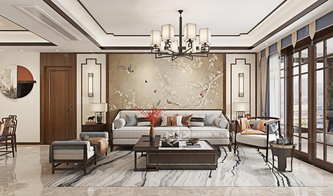 现代新中式-万达大公馆-三室两厅-147㎡装修实景效果图装修-三室两厅-新中式