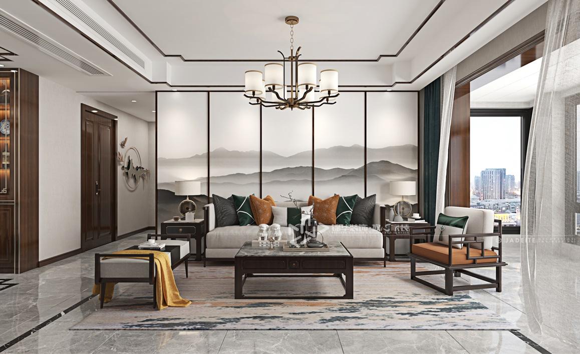 现代中式-京师学院山-四室两厅-140㎡装修实景效果图