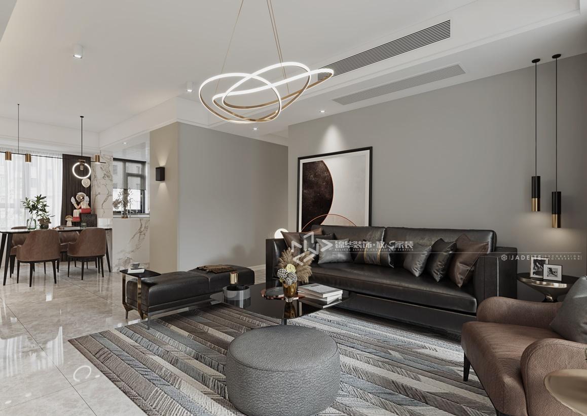 现代风格-保利紫荆公馆-三室两厅-120㎡装修实景效果图
