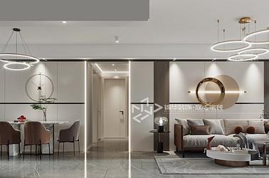现代简约-京师学院山-三室两厅-120㎡装修实景效果图