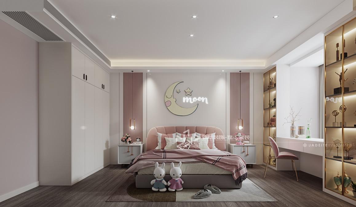 现代轻奢-万达大公馆-三室两厅-120㎡装修实景效果图装修-三室两厅-轻奢