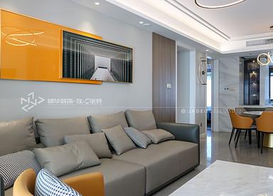 现代风格-龙泊湾-三室两厅-144㎡装修实景效果图
