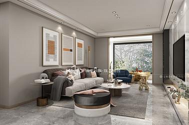 现代风格-万达大公馆-四室两厅-190㎡装修实景效果图