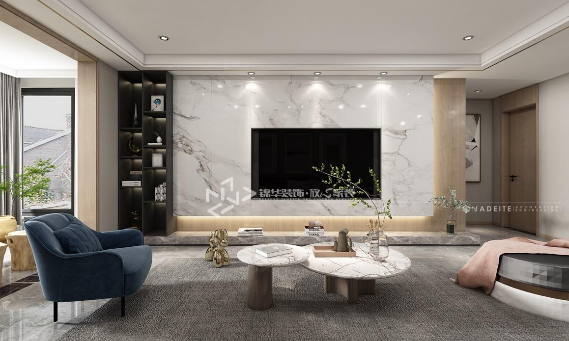 现代风格-万达大公馆-四室两厅-190㎡装修实景效果图装修-四室两厅-现代简约