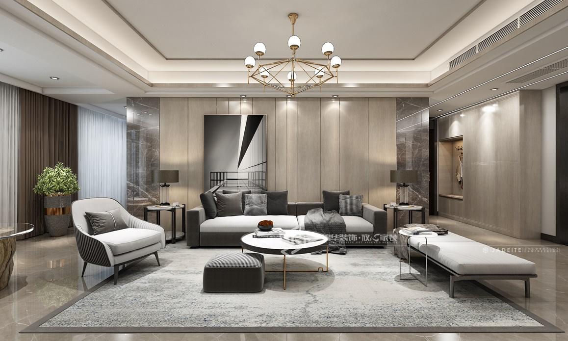 现代轻奢风格-奥林春天-四室两厅-160㎡装修实景效果图