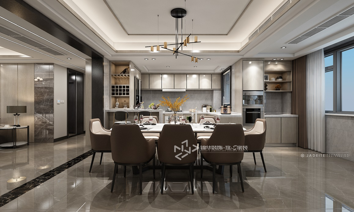 现代轻奢风格-奥林春天-四室两厅-160㎡装修实景效果图装修-四室两厅-轻奢
