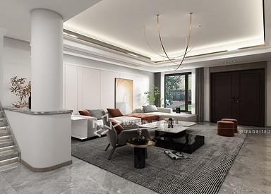 现代轻奢风格-八菱花园-五室两厅-260㎡装修实景效果图