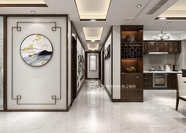 新中式风格-麒麟府-四室两厅-180㎡装修实景效果图