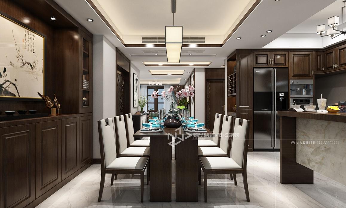 新中式风格-麒麟府-四室两厅-180㎡装修实景效果图装修-四室两厅-新中式