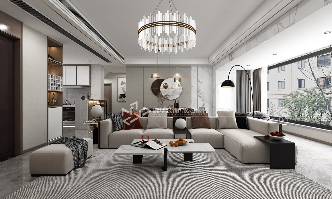 现代轻奢风格-碧桂园天玺-四室两厅-195㎡装修实景效果图装修-四室两厅-现代简约