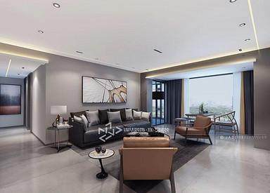 现代极简-碧桂园铂悦澜庭-三室两厅-150㎡装修实景效果图