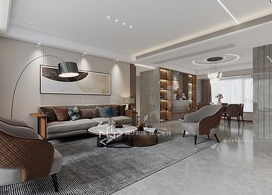 现代轻奢-碧桂园世纪云谷-三室两厅-150㎡装修实景效果图