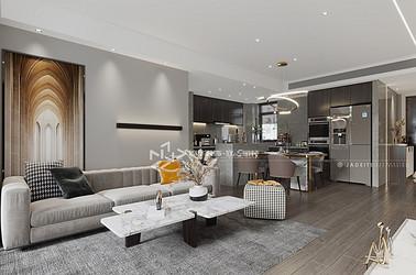 现代简约-通银森林红郡-三室两厅-145㎡装修实景效果图