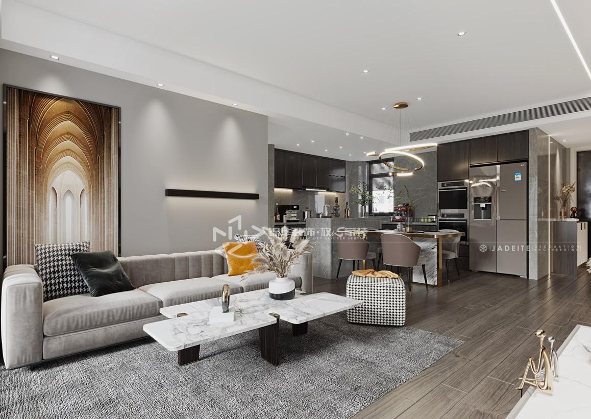 现代简约-通银森林红郡-三室两厅-145㎡装修实景效果图装修-三室两厅-现代简约