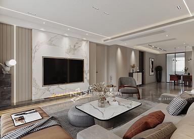 现代简约-万达大公馆-四室两厅-170㎡装修实景效果图