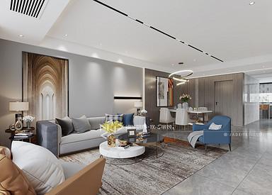现代简约-香苑西园-三室两厅-140㎡装修实景效果图