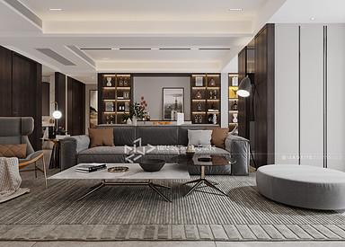 现代轻奢-海德公园-三室两厅-145㎡装修实景效果图