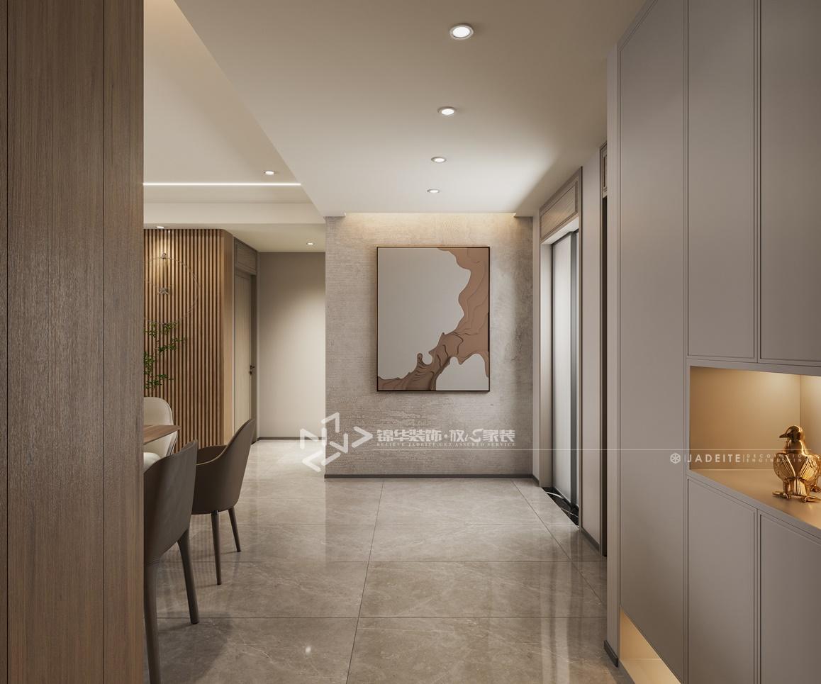 现代极简-万达大公馆-三室两厅-160㎡装修实景效果图装修-三室两厅-极简