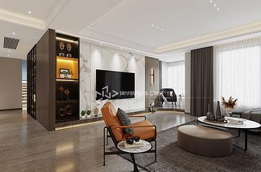 现代轻奢-梧桐墅 -三室两厅-150㎡装修实景效果图
