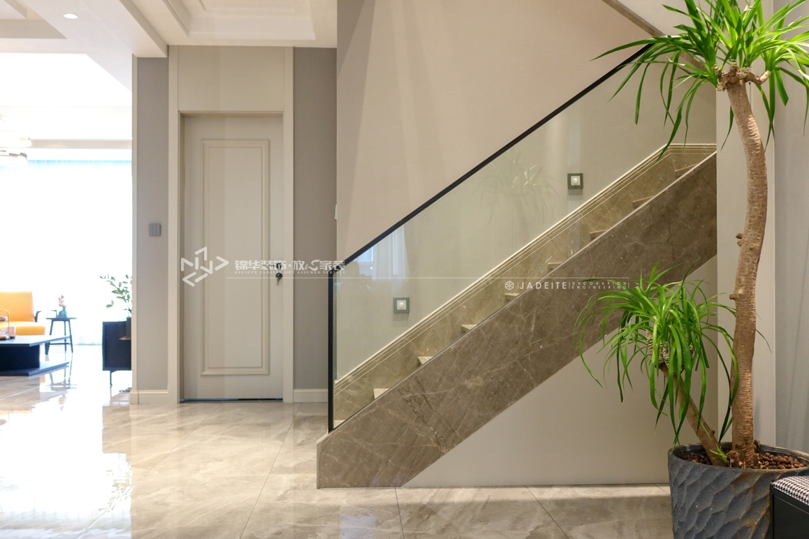 现代风格-中南八期-叠墅-198㎡装修实景效果图装修-跃层复式-现代简约