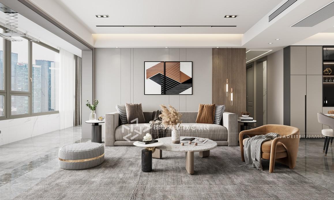 现代风格-碧桂园凤凰城-四室两厅-180㎡装修实景效果图